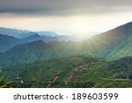 chinese agricultural terraces...   Shutterstock . vector #189603599