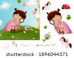 girl  of stylish  illustration... | Shutterstock . vector #1896044371