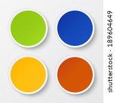 set of blank stickers....   Shutterstock .eps vector #189604649