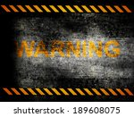 under construction with yellow... | Shutterstock . vector #189608075