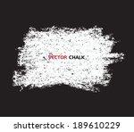 chalk texture grungy banner....   Shutterstock .eps vector #189610229