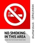 label no smoking sticker  flat... | Shutterstock .eps vector #189614444
