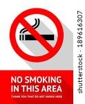 no smoking sticker  flat vector ... | Shutterstock .eps vector #189616307