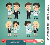 Doctors Cartoon Characters Set1....