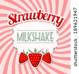 Strawberry Milkshake Label In...