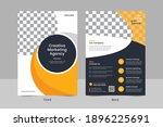 modern double sided business... | Shutterstock .eps vector #1896225691