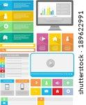 flat user interface element set | Shutterstock .eps vector #189622991