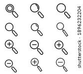 vector icon of magnifying...