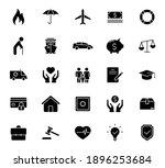 insurance silhouette vector... | Shutterstock .eps vector #1896253684