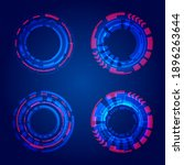 set of hud circles technology...