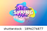 welcome spring. new collection. ... | Shutterstock .eps vector #1896276877