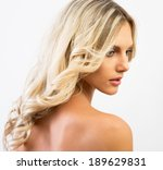 portrait of young woman with... | Shutterstock . vector #189629831