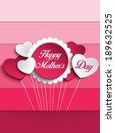 vector   happy mother day heart ... | Shutterstock .eps vector #189632525