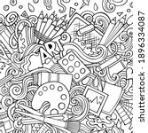 cartoon raster doodles art card.... | Shutterstock . vector #1896334087