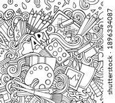 cartoon raster doodles art card....   Shutterstock . vector #1896334087