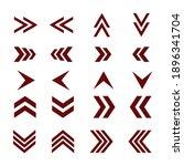 arrows sign set. arrows showing ... | Shutterstock .eps vector #1896341704