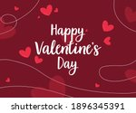 valentines day card with red... | Shutterstock .eps vector #1896345391