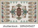 rectangular design for carpet... | Shutterstock .eps vector #1896345637