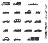 car icons set | Shutterstock .eps vector #189634769
