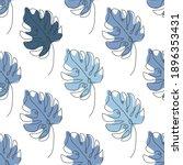 elegant seamless pattern with... | Shutterstock .eps vector #1896353431