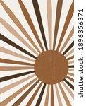 abstract sun print boho... | Shutterstock .eps vector #1896356371