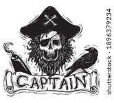 Skull Pirate Captain For T...
