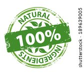 natural ingredients 100 percent ... | Shutterstock .eps vector #189639005