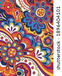 psychedelic background  1960s... | Shutterstock .eps vector #1896404101