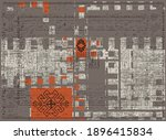 artistic traditional motifs...   Shutterstock .eps vector #1896415834