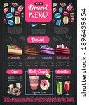 chalk drawing dessert menu...   Shutterstock .eps vector #1896439654