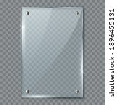 blank poster in 3d realistic... | Shutterstock .eps vector #1896455131