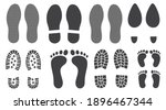 different human footprints icon ... | Shutterstock .eps vector #1896467344