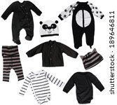 black clothing for babies | Shutterstock . vector #189646811