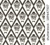 french bulldog seamless pattern   Shutterstock .eps vector #189647507
