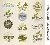 spring sale illustration | Shutterstock .eps vector #189647531