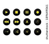 media buttons | Shutterstock .eps vector #189649061