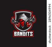 bandit mask gangster head logo | Shutterstock .eps vector #1896504994