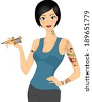 illustration of a female tattoo ... | Shutterstock .eps vector #189651779