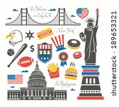 united states of america set | Shutterstock .eps vector #189653321