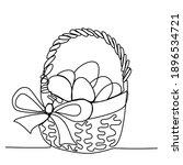 easter eggs in a wicker easter... | Shutterstock .eps vector #1896534721