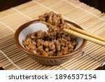 Small photo of Natto is a Traditional Japanese Health Food. It is made from fermented soybeans and has a slimy texture.
