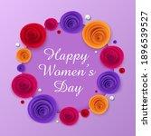 happy women's day layout design ...   Shutterstock .eps vector #1896539527