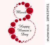 happy women's day layout design ...   Shutterstock .eps vector #1896539551