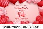 valentines day sale vector...   Shutterstock .eps vector #1896571534