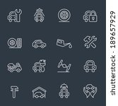 auto service icons | Shutterstock .eps vector #189657929