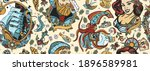 sea adventure vintage seamless... | Shutterstock .eps vector #1896589981