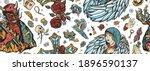 angel and demon seamless... | Shutterstock .eps vector #1896590137