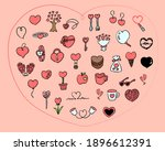 heart motif illustration set  ... | Shutterstock .eps vector #1896612391