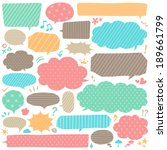 speech bubbles | Shutterstock .eps vector #189661799