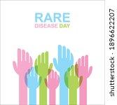 vector illustration of rare... | Shutterstock .eps vector #1896622207